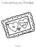 I miss and love you Grandpa! Coloring Page