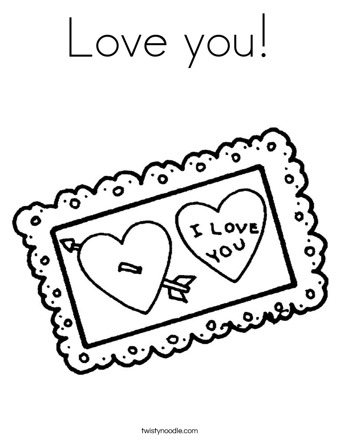 Love you! Coloring Page