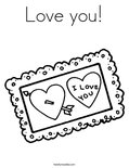 Love you!Coloring Page