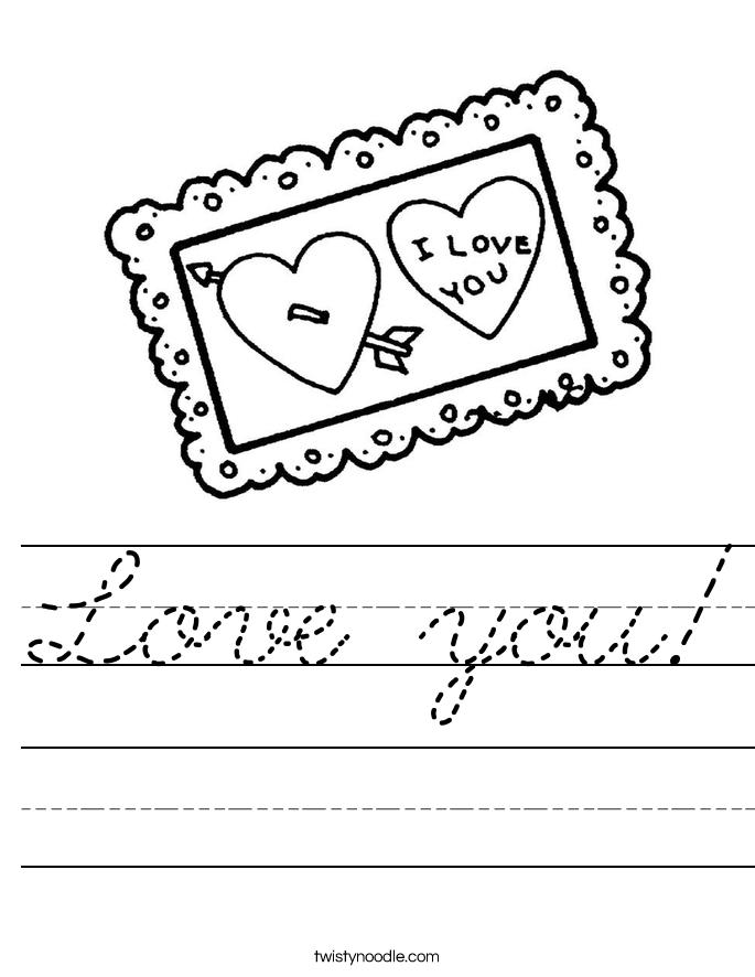 Love you! Worksheet