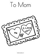 To Mom Coloring Page