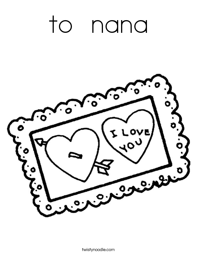 to  nana Coloring Page