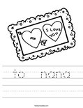to  nana Worksheet