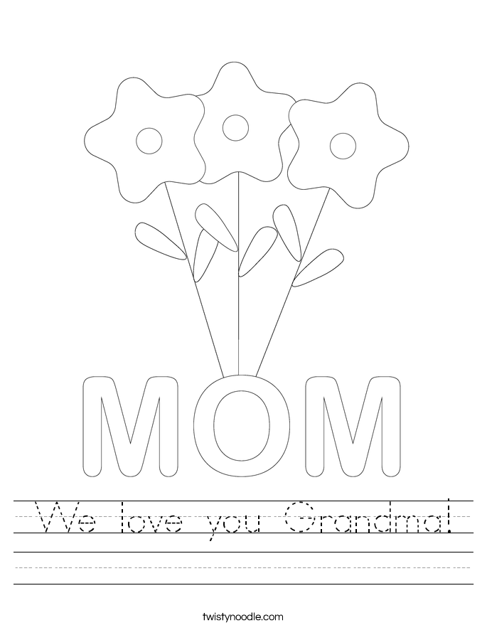 We love you Grandma! Worksheet