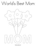 World's Best Mom Coloring Page