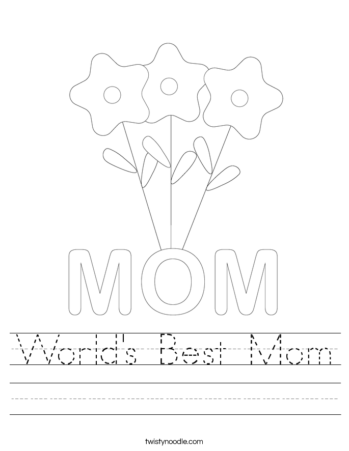 World's Best Mom Worksheet