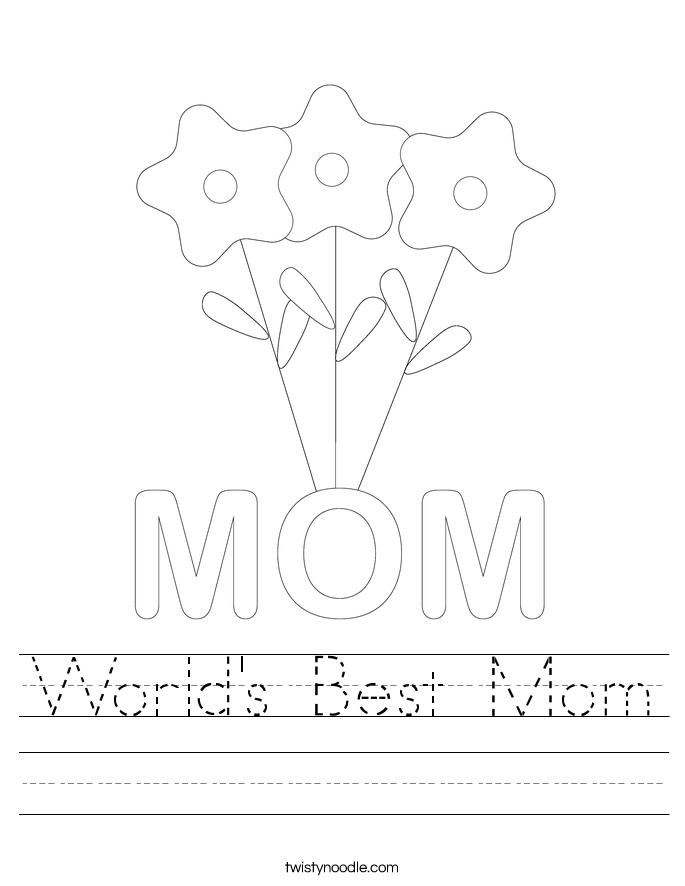 World's Best Mom Worksheet