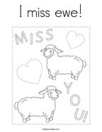 I miss ewe Coloring Page
