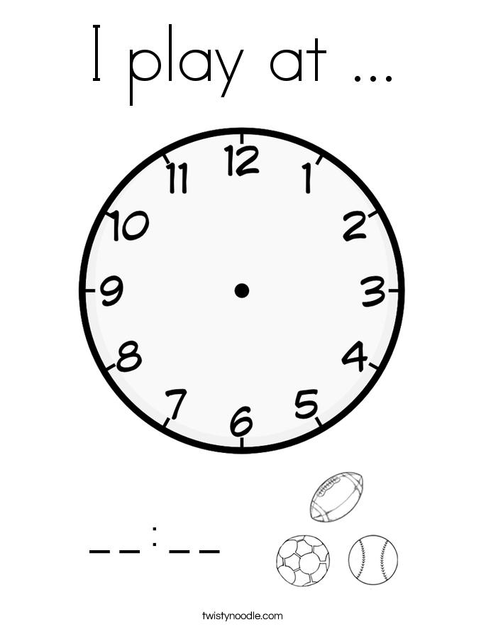 I play at ... Coloring Page