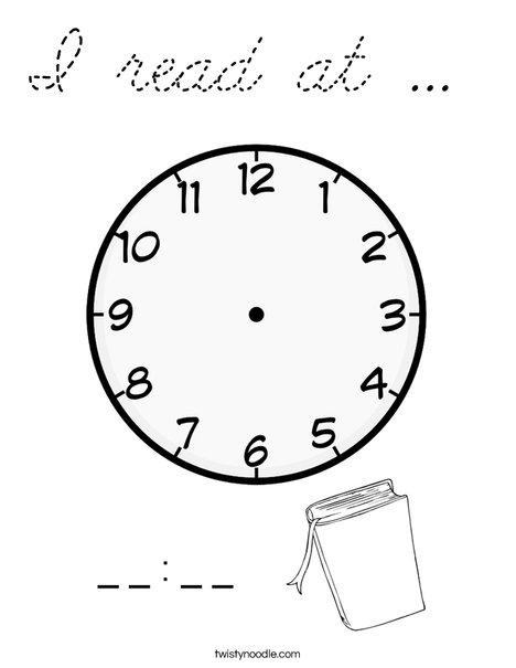 I read at ...  Coloring Page