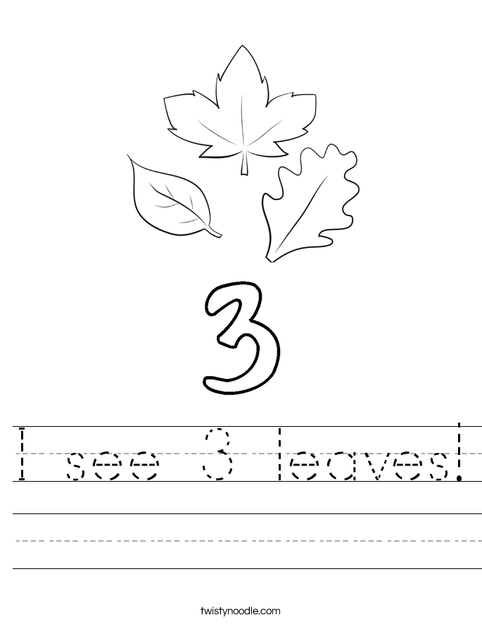 I see 3 leaves! Worksheet