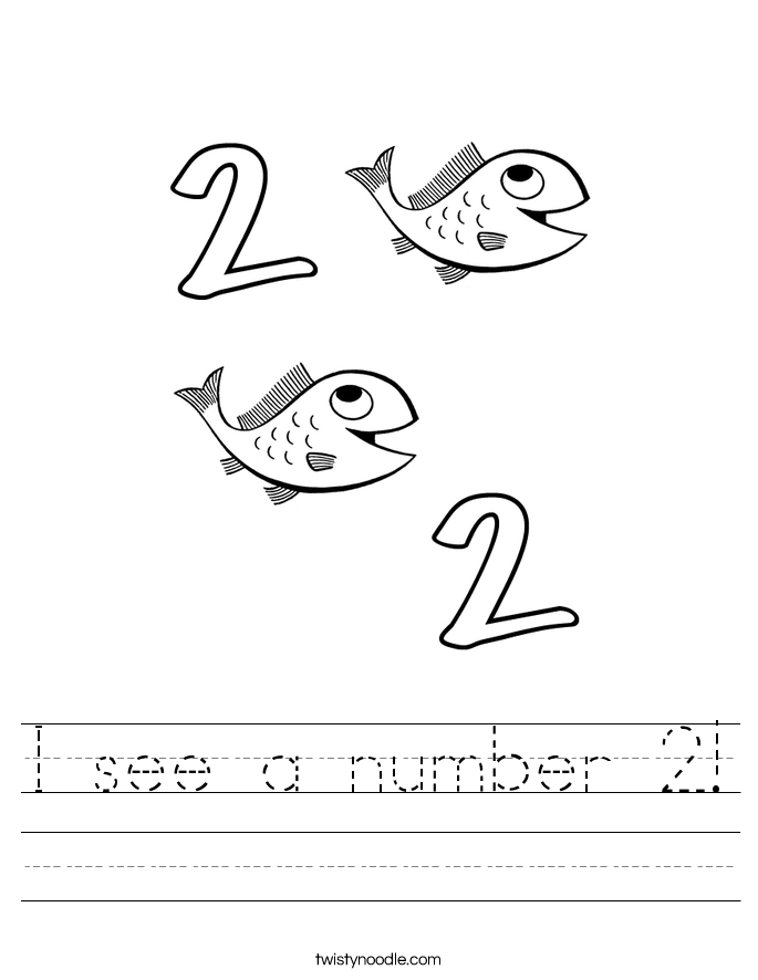 I see a number 2! Worksheet