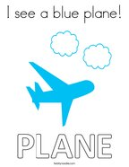 I see a blue plane Coloring Page