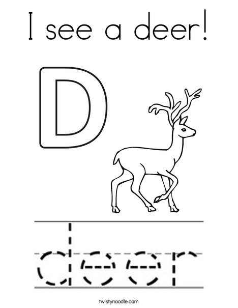 I see a deer! Coloring Page
