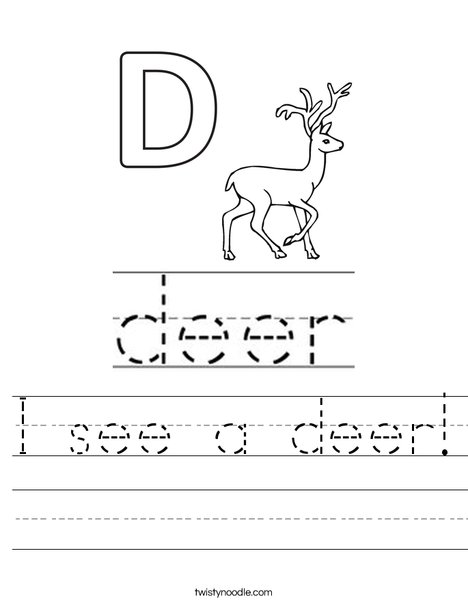 I see a deer! Worksheet