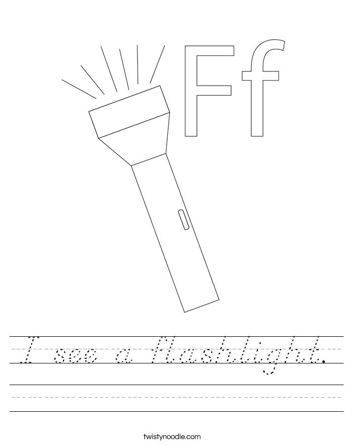 I see a flashlight. Worksheet
