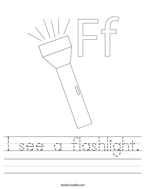 I see a flashlight. Worksheet