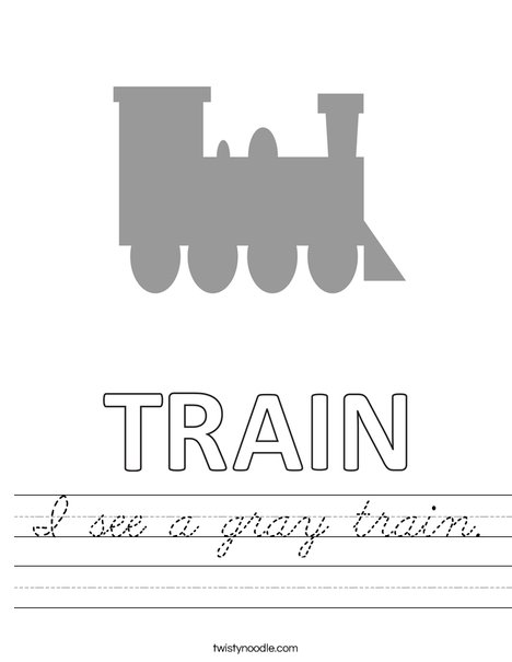 I see a gray train. Worksheet