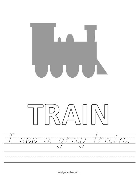 I see a gray train. Worksheet
