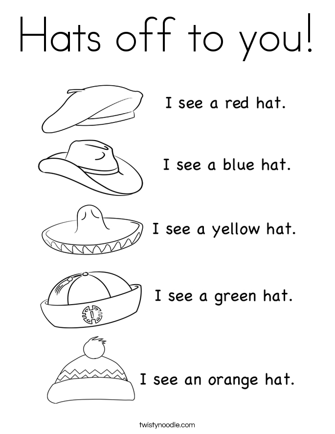 Hats off to you! Coloring Page