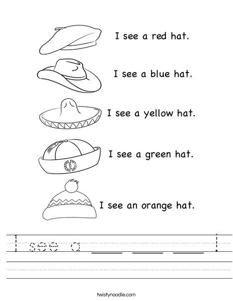 I see a hat! Worksheet