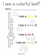 I see a colorful leaf Coloring Page