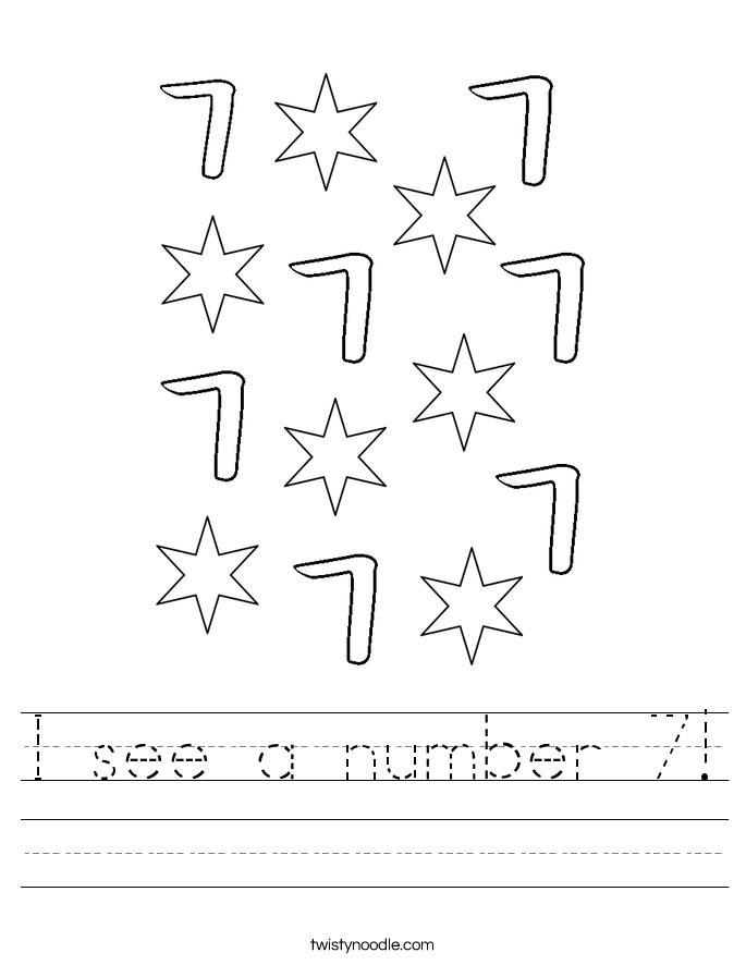 I see a number 7! Worksheet