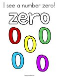 I see a number zero! Coloring Page
