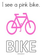I see a pink bike Coloring Page