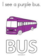 I see a purple bus Coloring Page