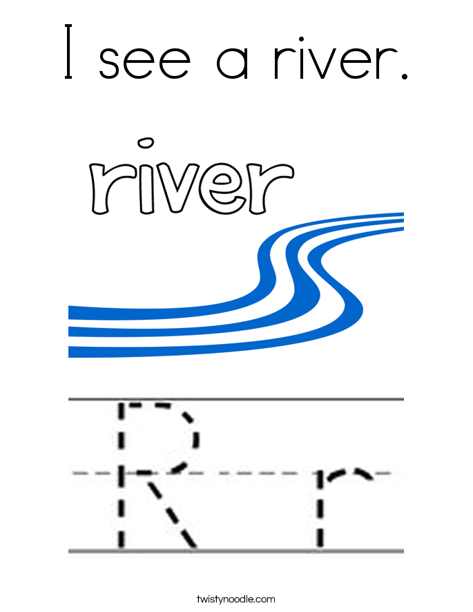 I see a river. Coloring Page