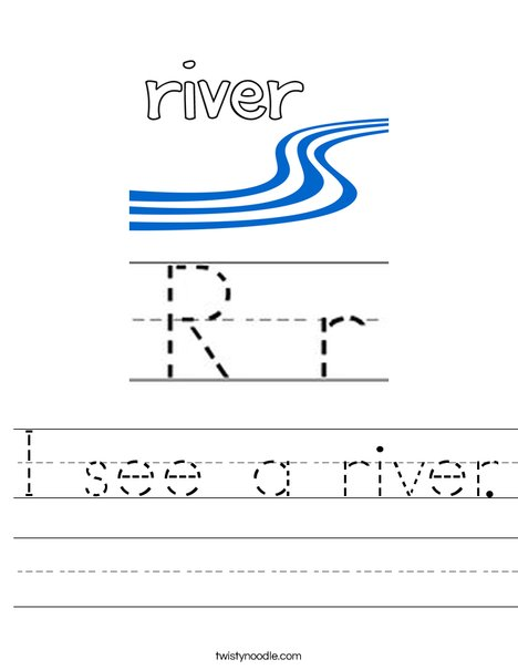 I see a river. Worksheet