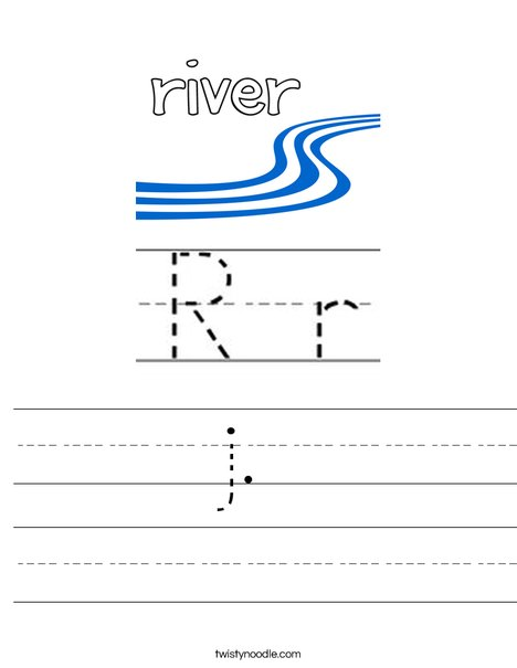 I see a river. Worksheet