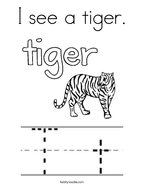 I see a tiger Coloring Page