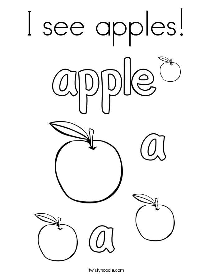 I see apples! Coloring Page