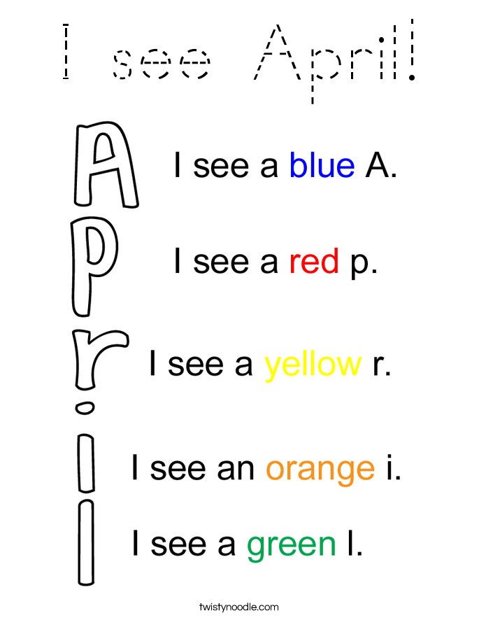 I see April! Coloring Page