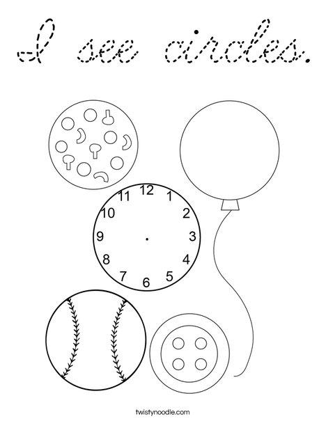 I see circles. Coloring Page