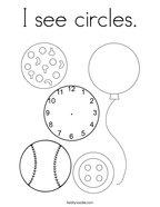 I see circles Coloring Page