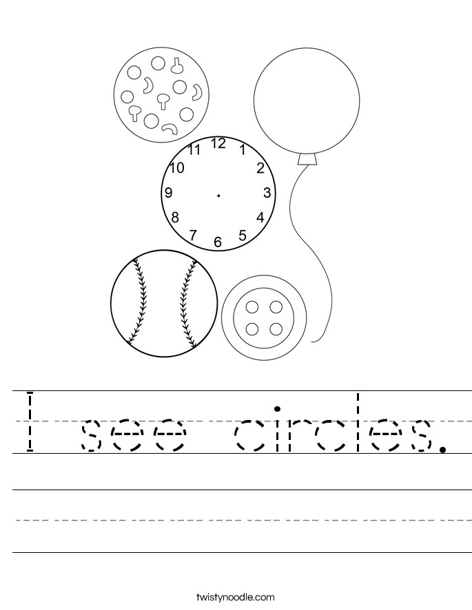 I see circles. Worksheet