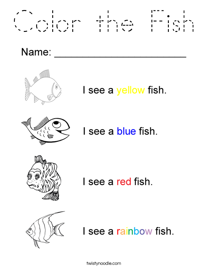 Color the Fish Coloring Page