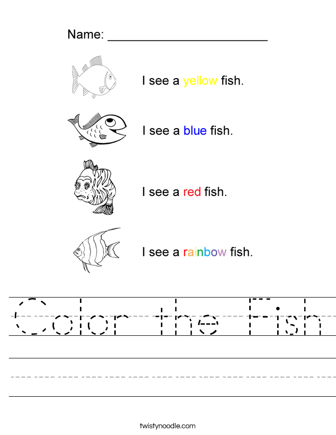 Color the Fish Worksheet
