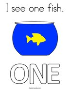 I see one fish Coloring Page