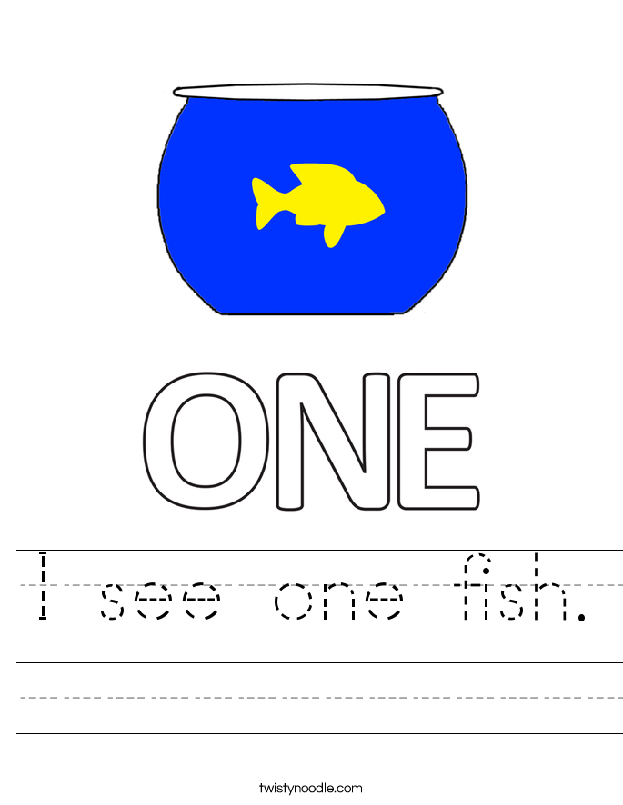 I see one fish. Worksheet