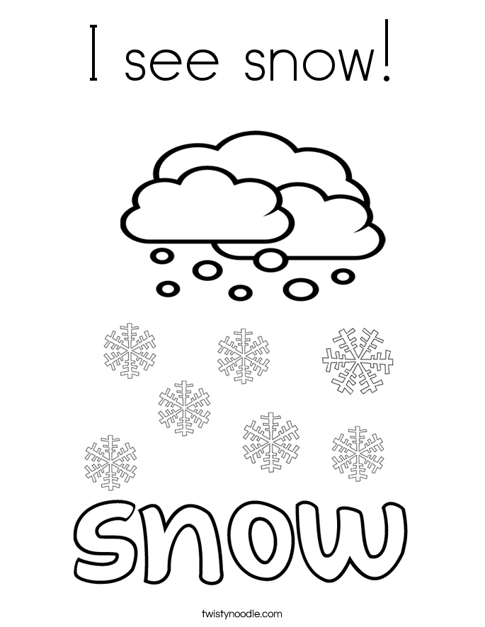 I See Snow 10 Coloring Page on Coloring Pages To Color