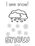 I see snow! Coloring Page