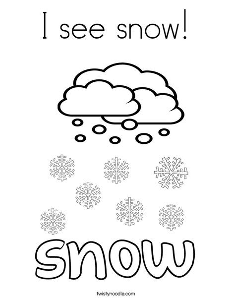 I see snow Coloring Page