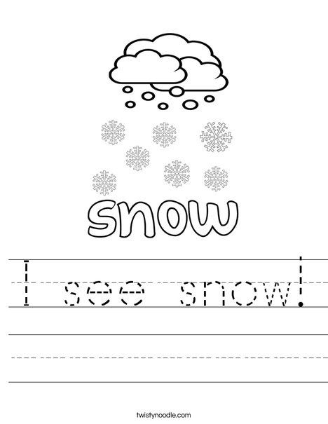 I see snow Worksheet