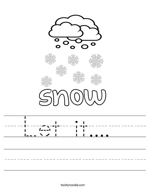 I see snow Worksheet
