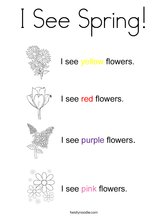 I See Spring! Coloring Page