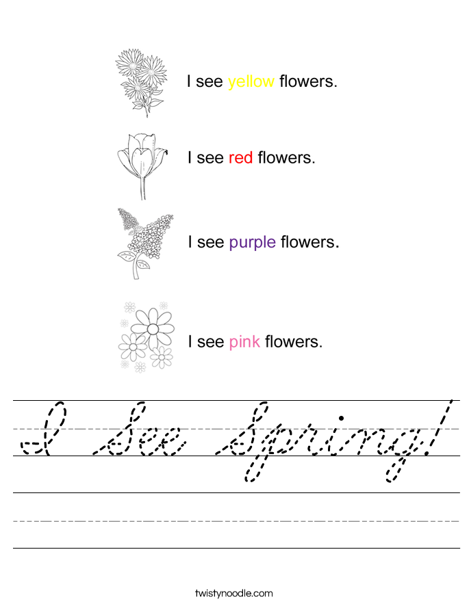 I See Spring! Worksheet